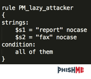 Figure 4 -- Stopping lazy attackers with Yara rules